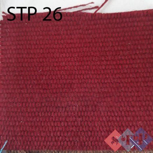 Vải bố may túi nhuộm màu đỏ sợi lớn giá sỉ tại STP Canvas